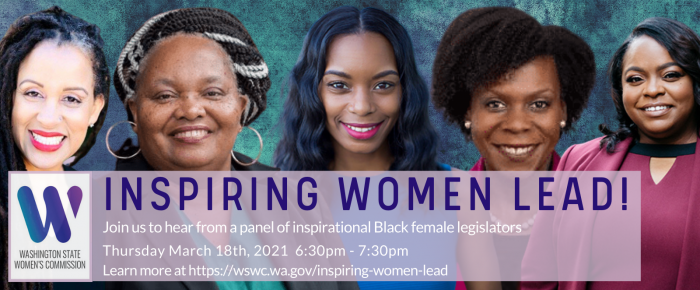 Inspiring Women Lead - Thursday March 18th, 6:30pm to 7:30pm