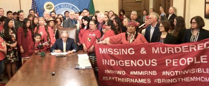 Missing and Murdered Indigenous Women and Girls bill signing